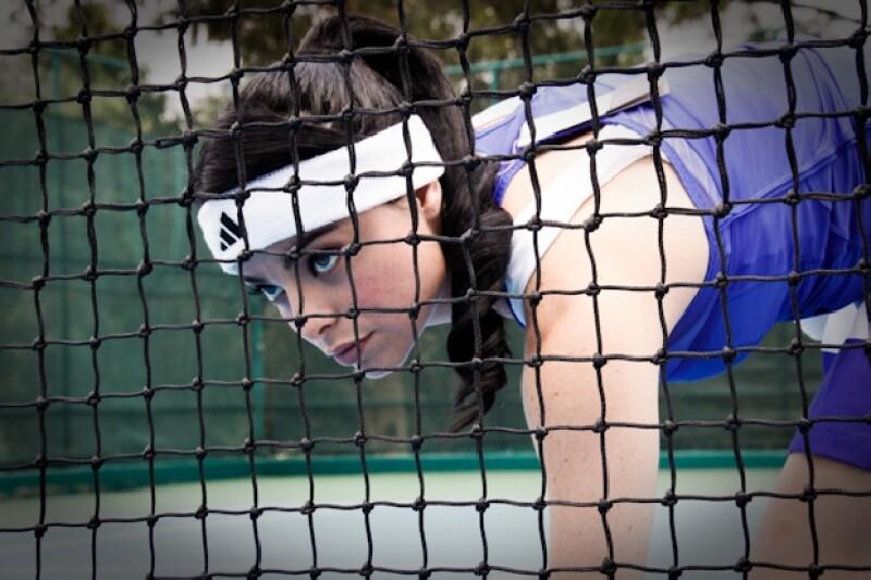 Violeta Isfel se convierte en tenista