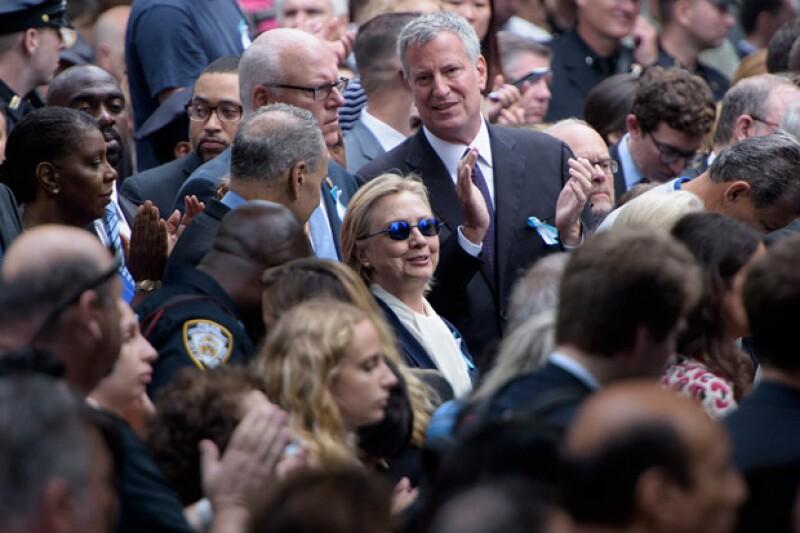 Según aseguró el vocero de su campaña, ella se sintió sofocada.