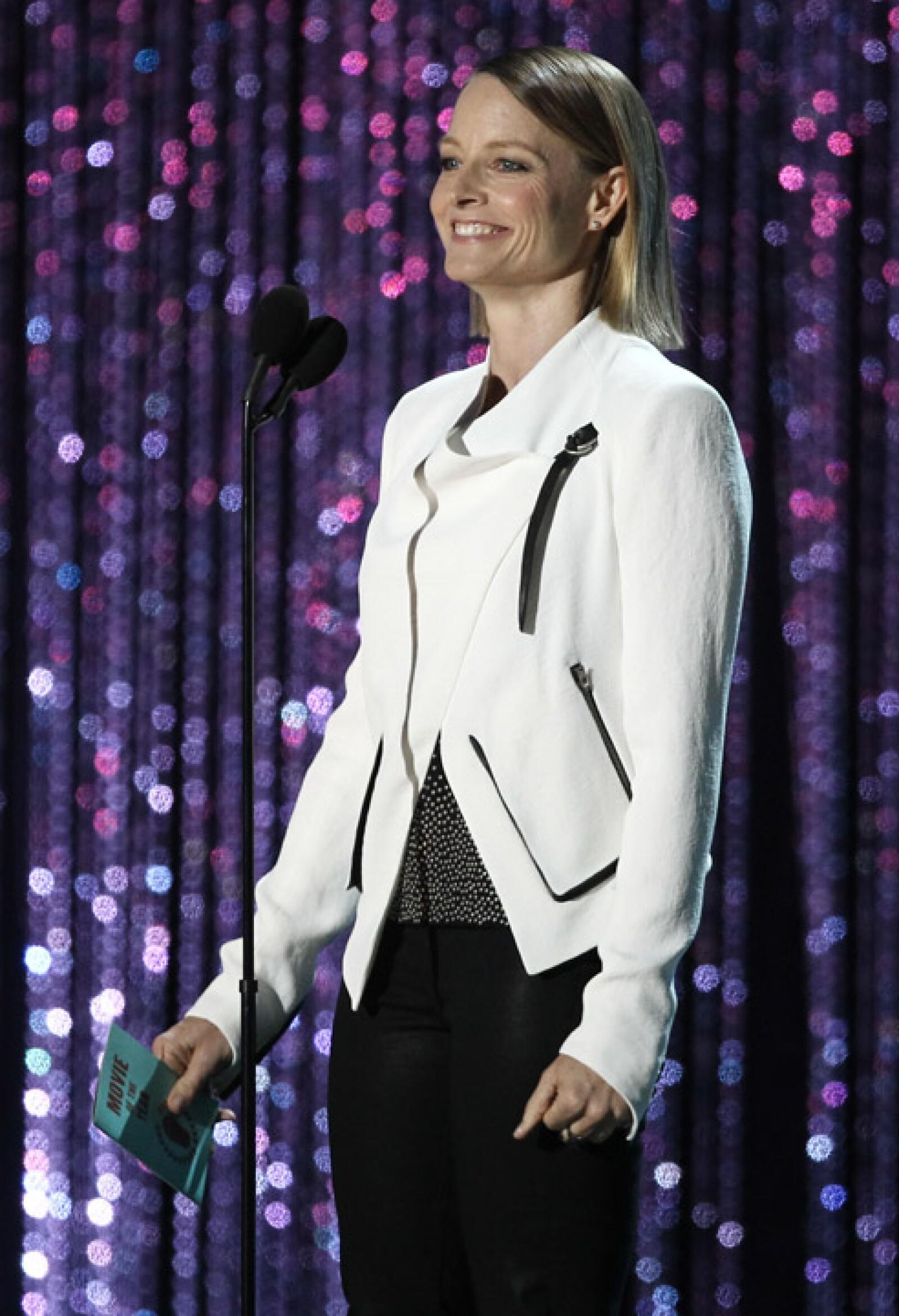 Jodie Foster presentó el premio a Mejor Película.