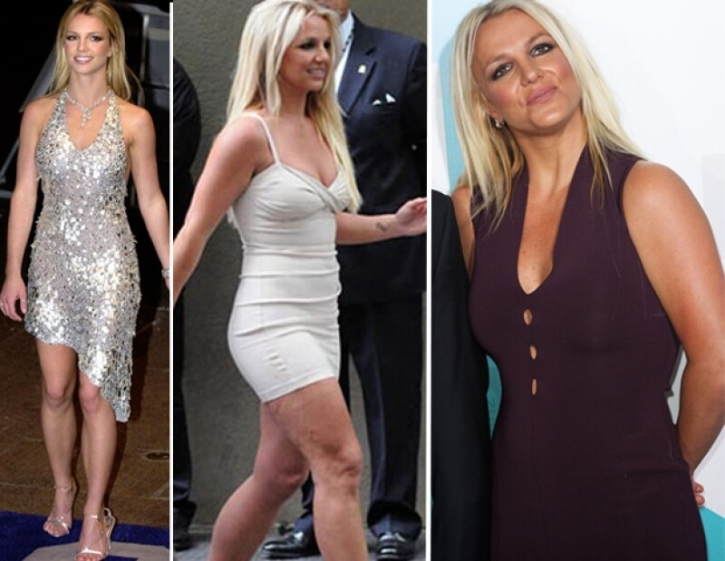 En la primera foto se aprecia cómo lucía Spears hace nueve años, las siguientes fotos son actuales.
