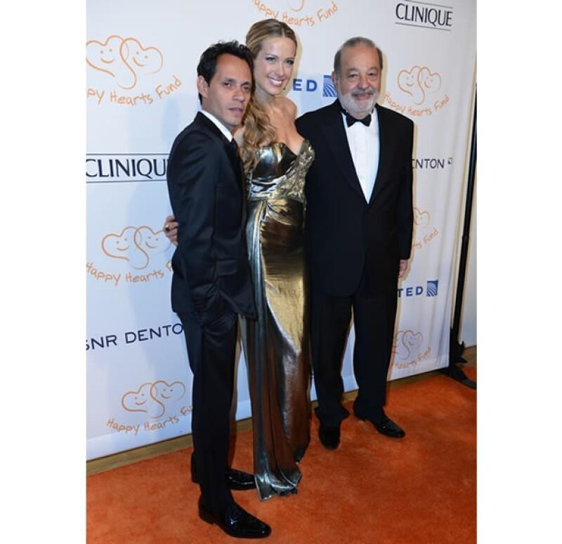 Marc Anthony y Carlos Slim fueron dos de los invitados especiales.