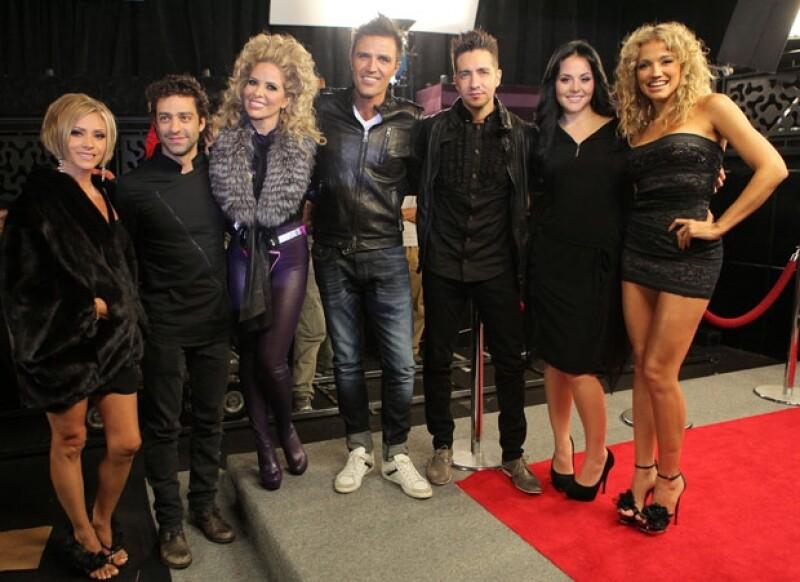 Daniela Castro, Ary Borovoy, Gloria, Billy Rovzar, Óscar Schwebel, Zuria Vega y Fanny Lu se divirtieron mucho en el clip de Gloria Trevi.