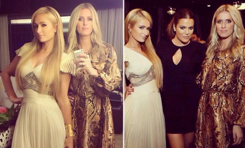Paris Hilton viajó acompañada de Nicky Hilton. Ambas se tomaron una foto con la menor de las Kardashian.