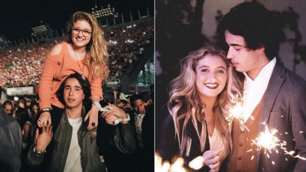 """La hija de Angélica Rivera y Alberto """"El Güero"""" Castro disfruta más que nunca la relación con su novio, Sebastián Pereyra."""