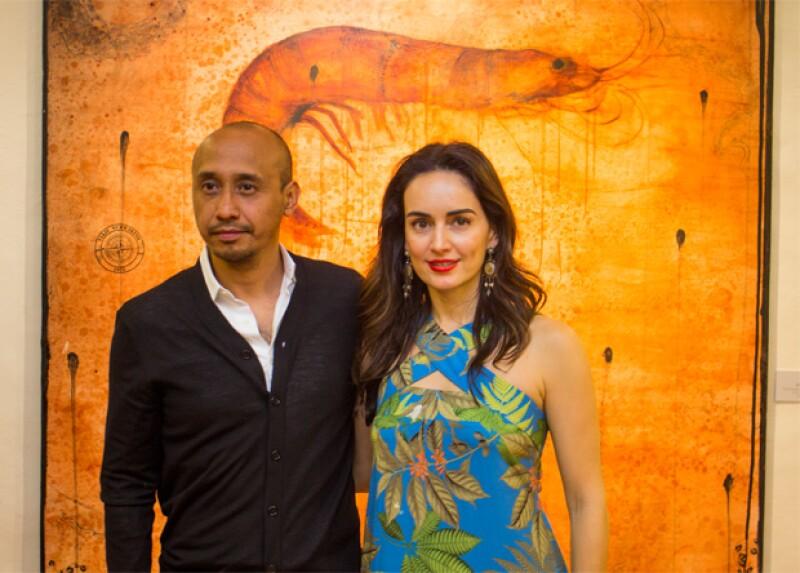 Amador Montes y Ana de la Reguera en la exhibición realizada el 30 de enero.