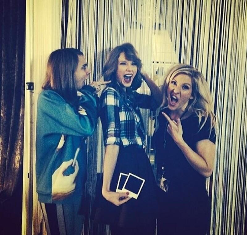 Cara, Taylor y Ellie Goulding posaron para el Instagram de la modelo.