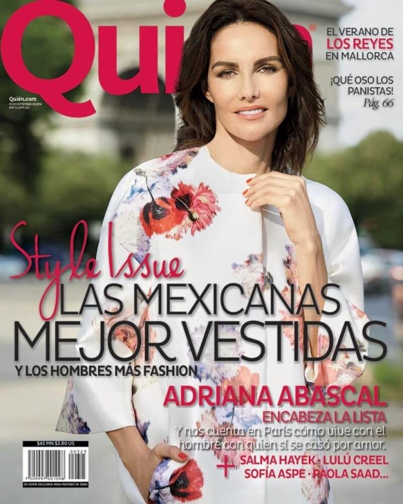 Adriana Abascal encabeza la lista de Style Issu.