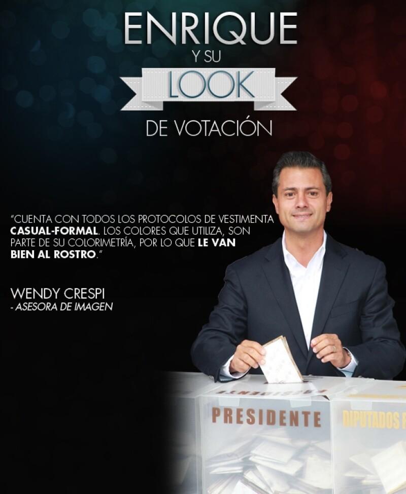 Los candidatos se levantaron temprano para ir a votar. Enrique Peña Nieto fue el último acompañado de su familia. Aquí un análisis de su actitud y estilo.