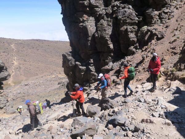 Durante el ascenso el grupo caminó más de 60 kilómetros.