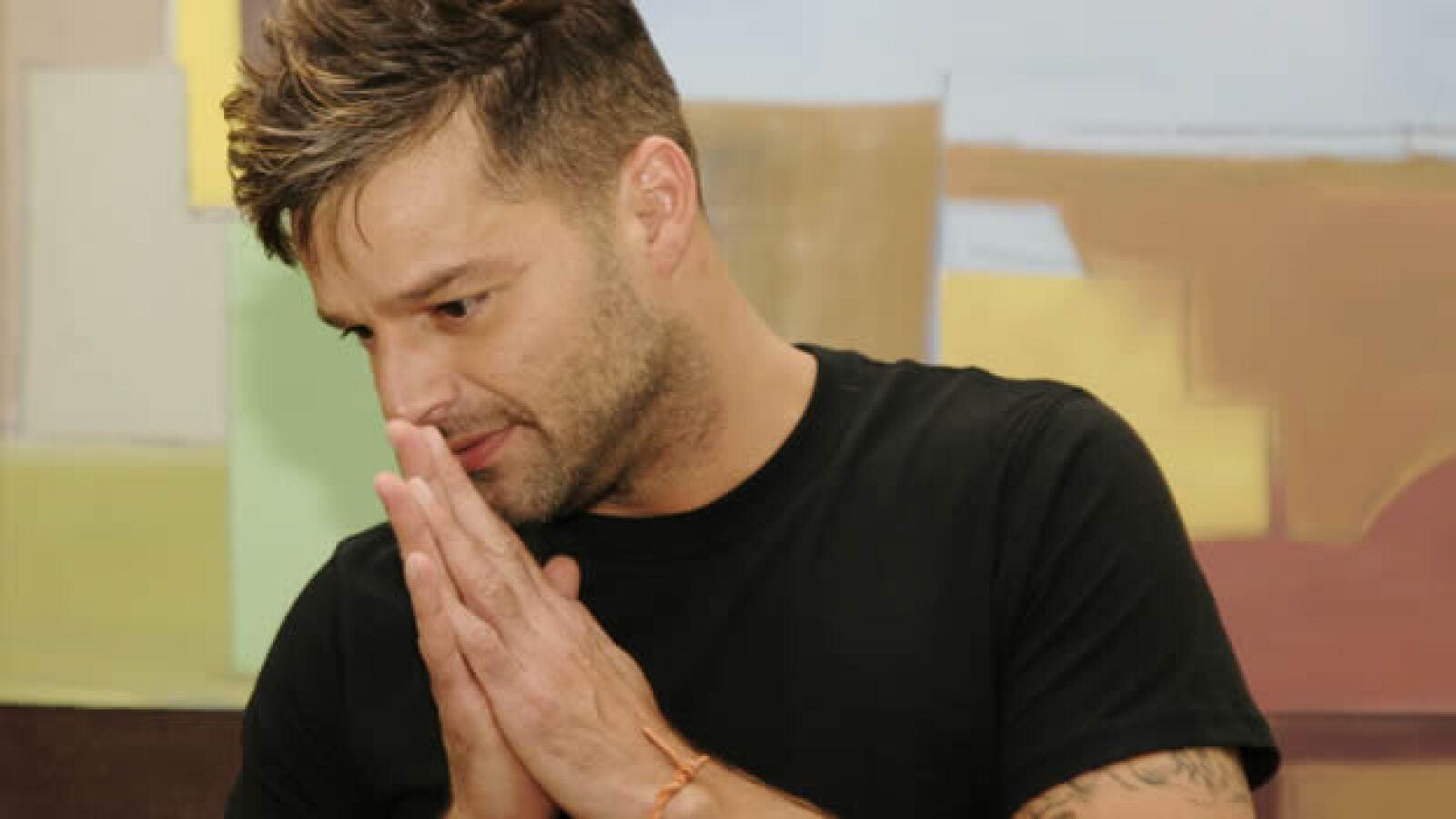 2/06/09. - El cantante puertorriqueño Ricky Martin se dirige a los medios de comunicación hoy, 12 de junio de 2009, para informar del Proyec