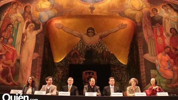 Laura D. B. Laviada,Ricardo Calderón,Allen Blevins,Eduardo Vázquez,Emilio Romano,Itala Schmelz y Bertha Cea