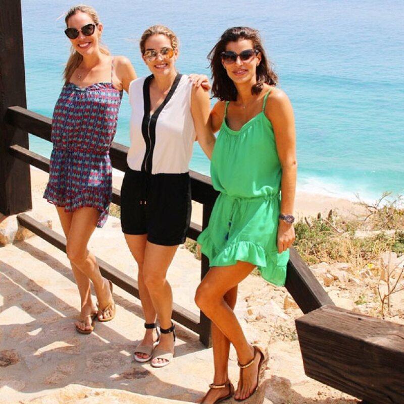 La empresaria viajó al destino turístico durante el fin de semana, acompañada de sus dos hermanas y su papá Ernesto Coppel.