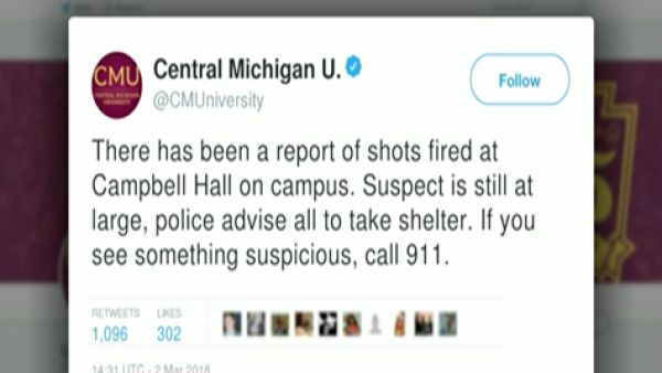 La Universidad Central de Michigan reporta disparos en sus instalaciones
