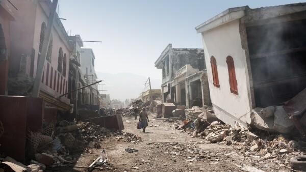 City after earthqake