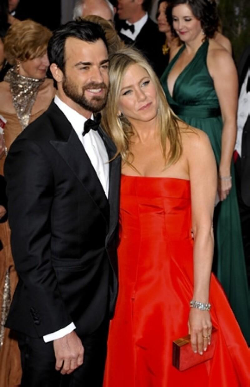 La actriz y su prometido Justin Theroux no han informado la fecha de su boda ni a los que asistirán.