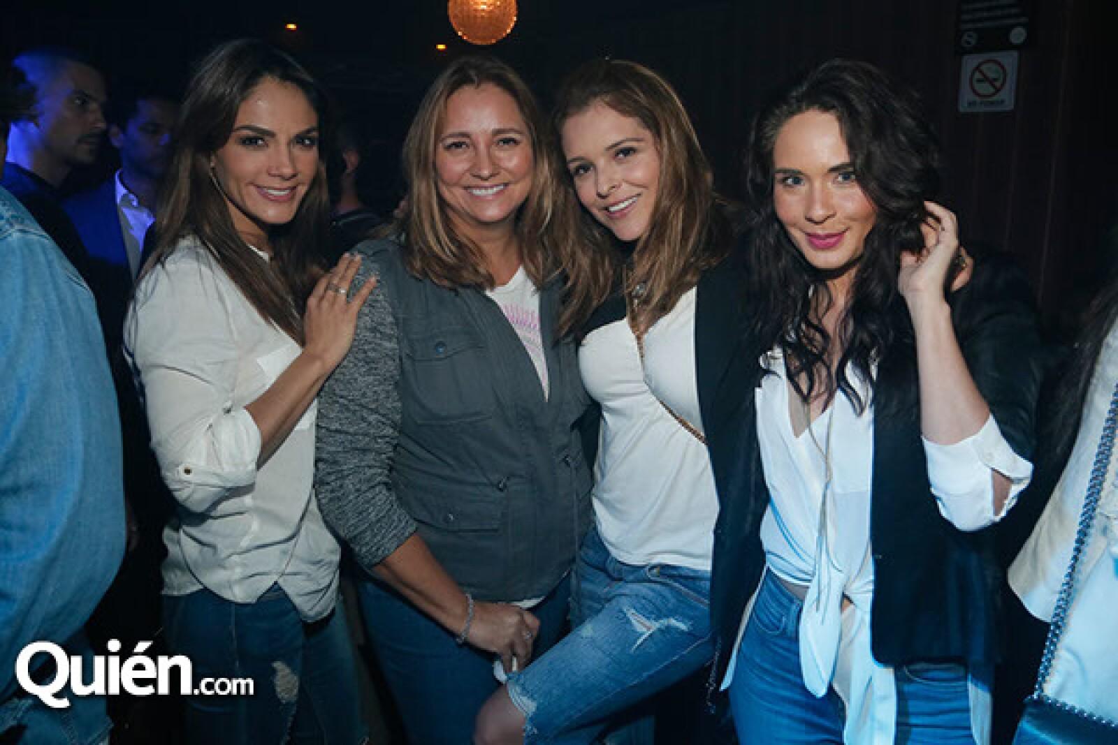 Rossana Najera, Gabriela Rivero, Gretel Valdes y Adriana Louvier.