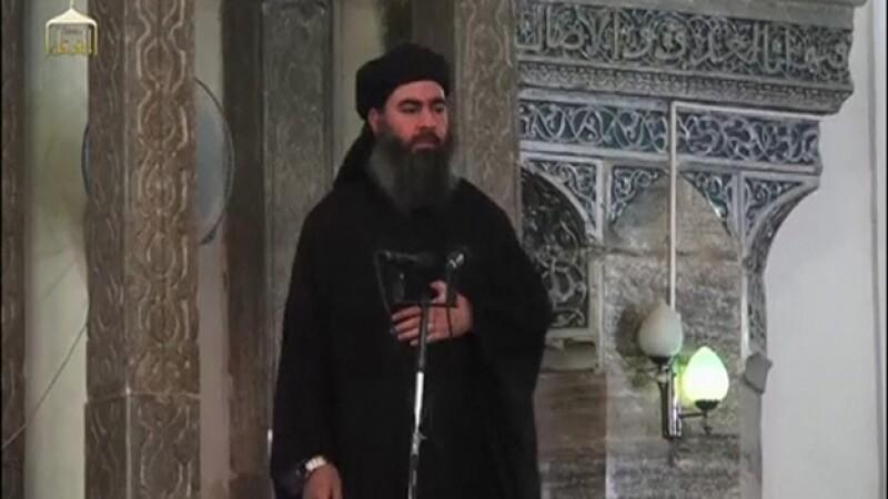 El supuesto líder del llamado Estado Islámico en Iraq y Siria (ISIS) Abu Bakr al Baghdadi
