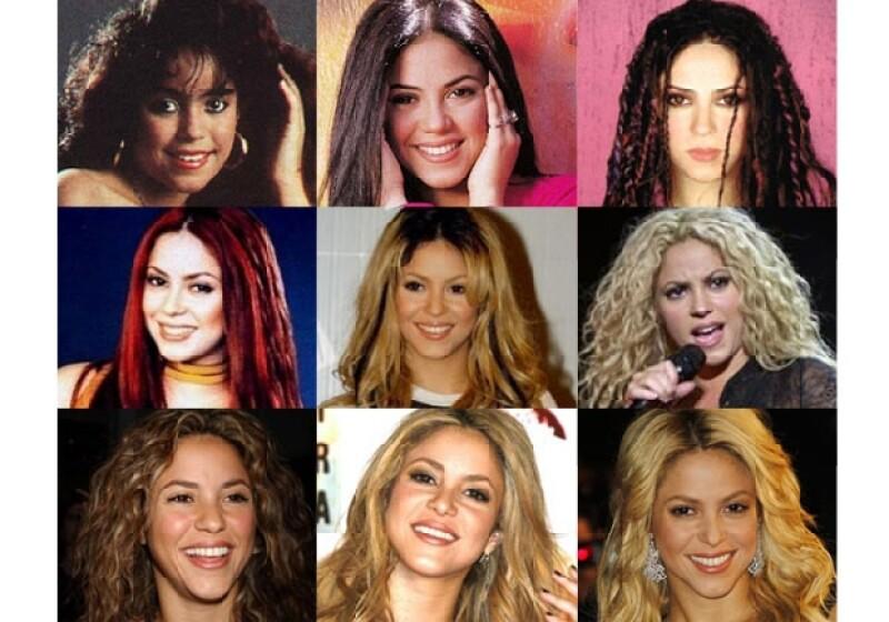 Camaleónica y versátil, la cantante colombiana ha tenido bastantes cambios de look. Chécalos todos.
