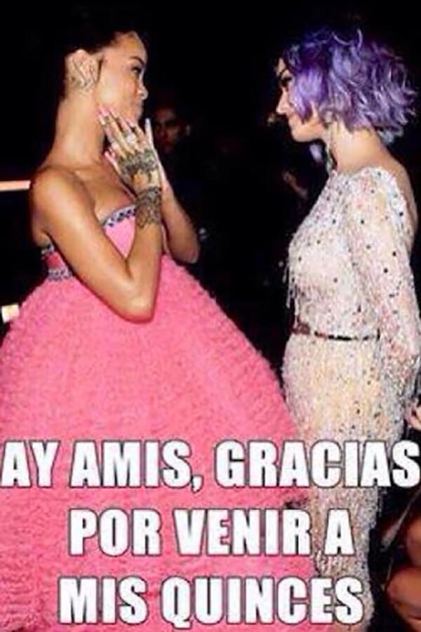 Katy Perry fue una de las invitadas de honor al festejo.
