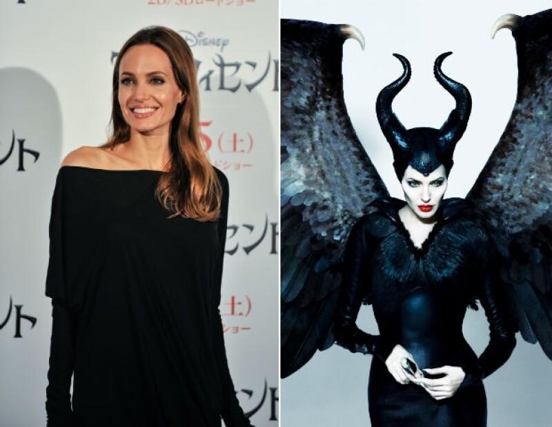 Una de las mejores caracterizaciones de este año en la pantalla grande es la de Angelina como Maléfica.