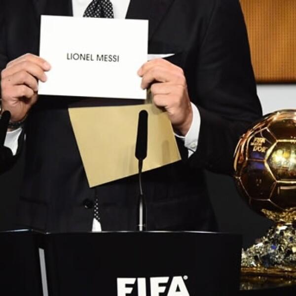 Lionel Messi gana su cuarto balón de oro