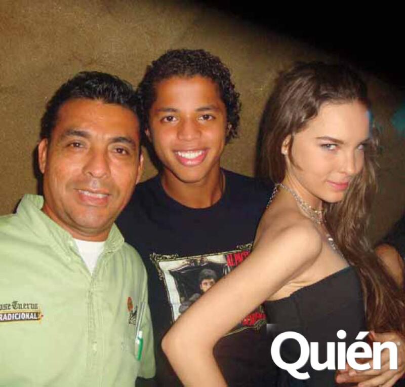Giovanni Dos Santos con Belinda, cuando aún andaban.
