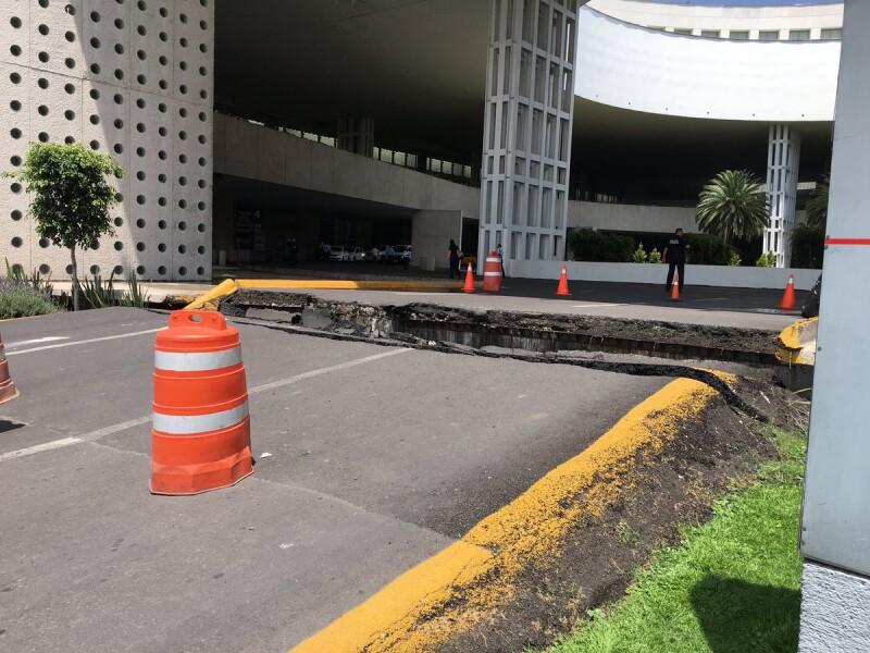 Terremoto, aeropuerto