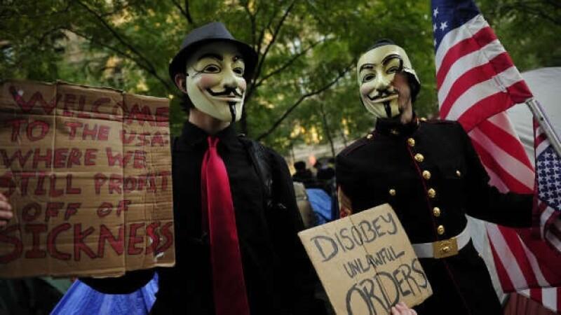 Ocupa Wall Street - NY - máscara