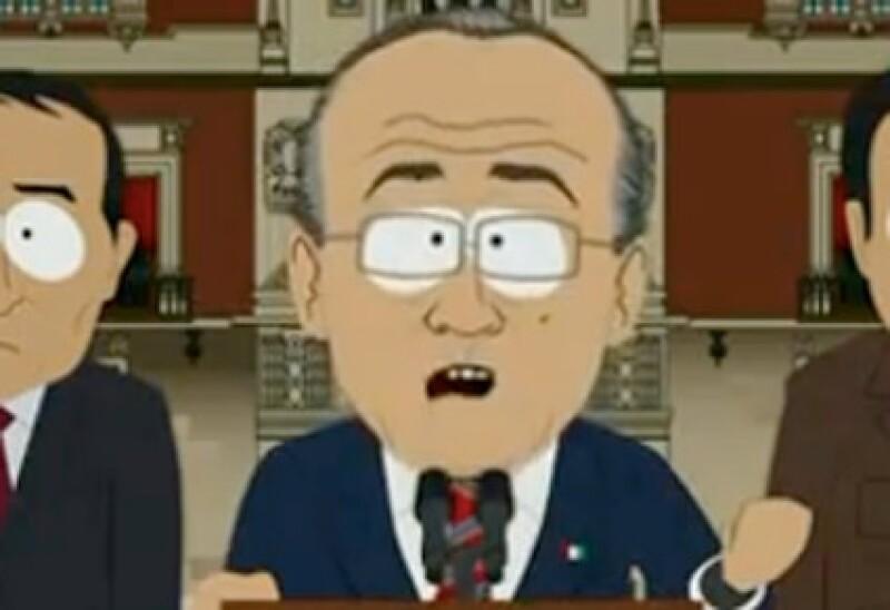 La parodia de Felipe Calderón apareció en un capitulo de `South Park´