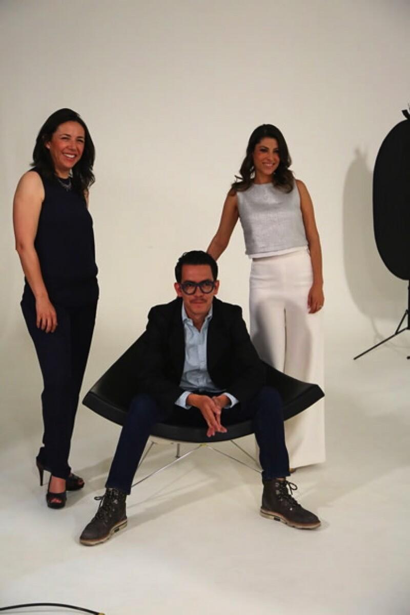 Laura Manzo, Manolo Caro y Sylvana Beltrones