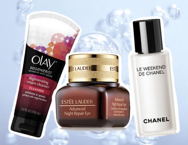 1. Olay, 2. Estée Lauder, 3. Chanel