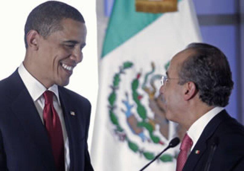 Barack Obama y Felipe Calderón se reunirán este fin de semana. (Foto: Archivo AP)