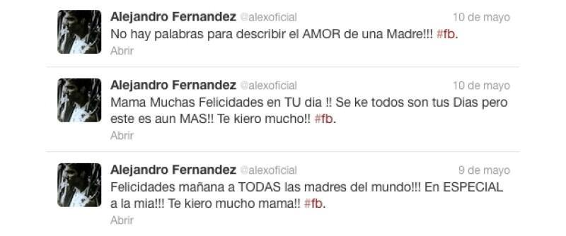 Alex Fernández se puso muy cariñoso.