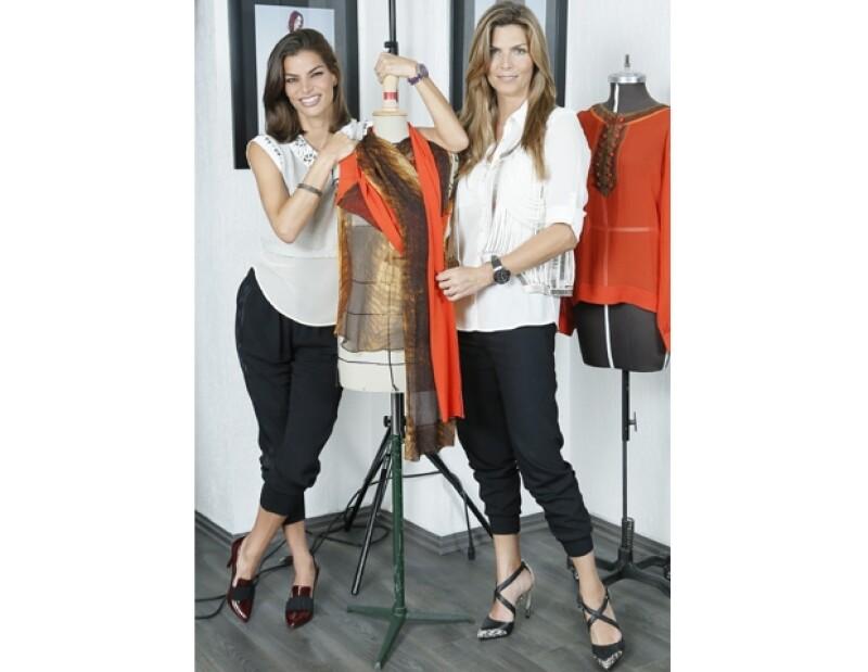 Bárbara y Montserrat explotaron el color naranja para la próxima temporada, imitando las túnicas y maquillaje de los sacerdotes de la India.