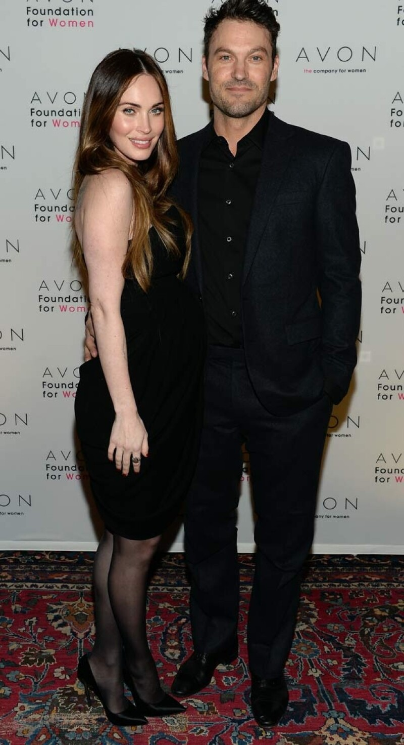 Megan acudió acompañada de su esposo Brian Austin Green.