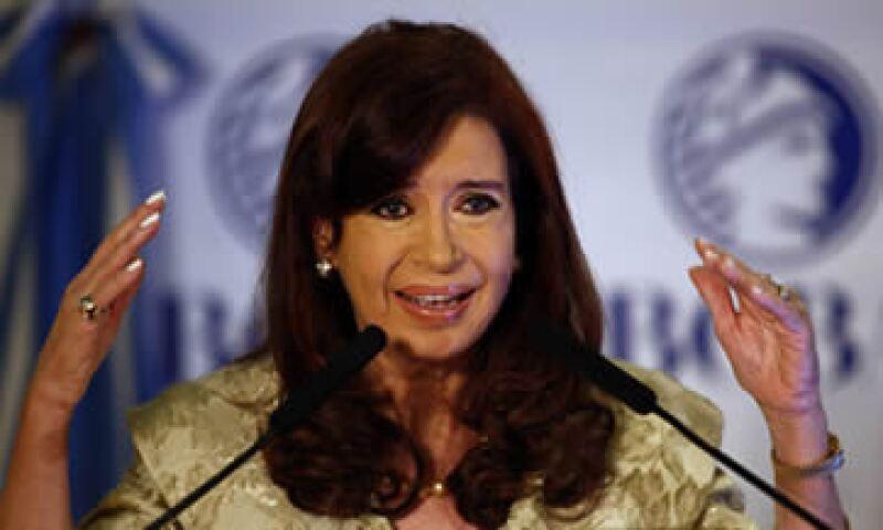 Cristina Fernández envió su iniciativa al Congreso, donde predomina el oficialismo. (Foto: Reuters)