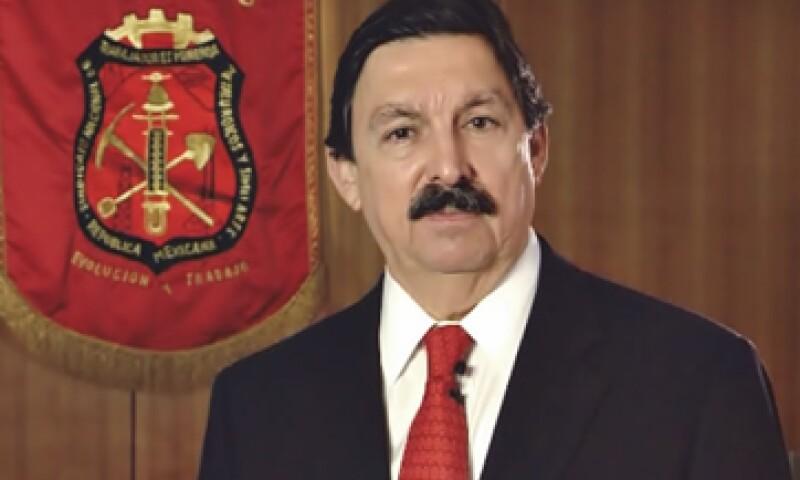 Napoleón Gómez Urrutia es acusado de presunta malversación de fondos del sindicato minero.  (Foto tomada de www.sindicatominero.org.mx)