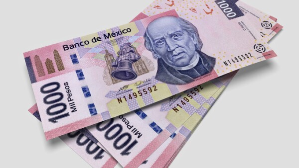 Some bills of one thousand Mexican pesos