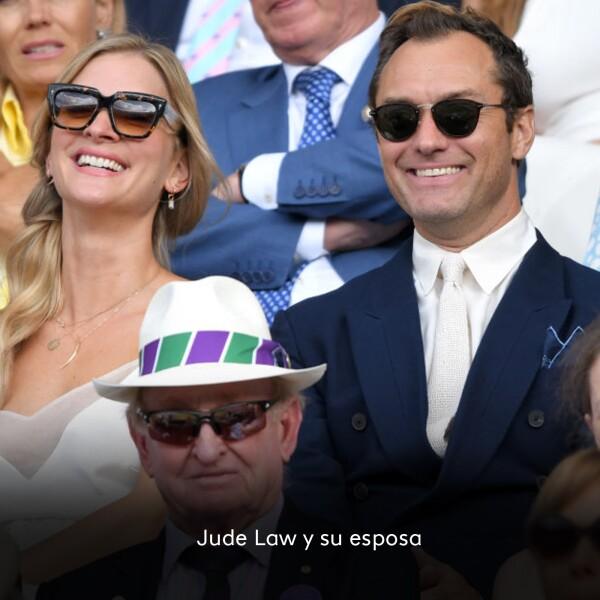 Jude Lawn y su esposa