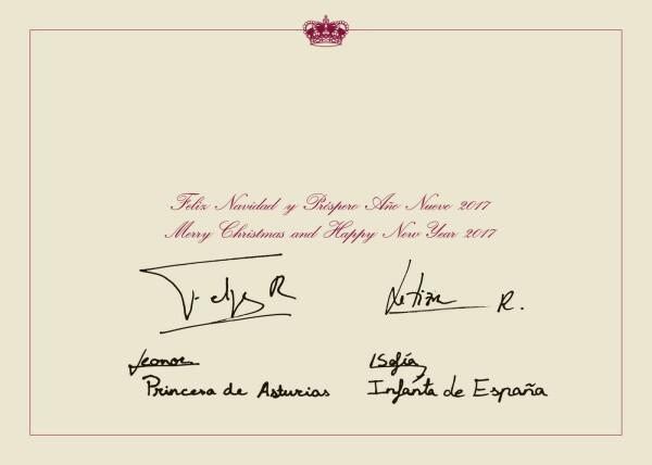 Postal navideña familia real españa