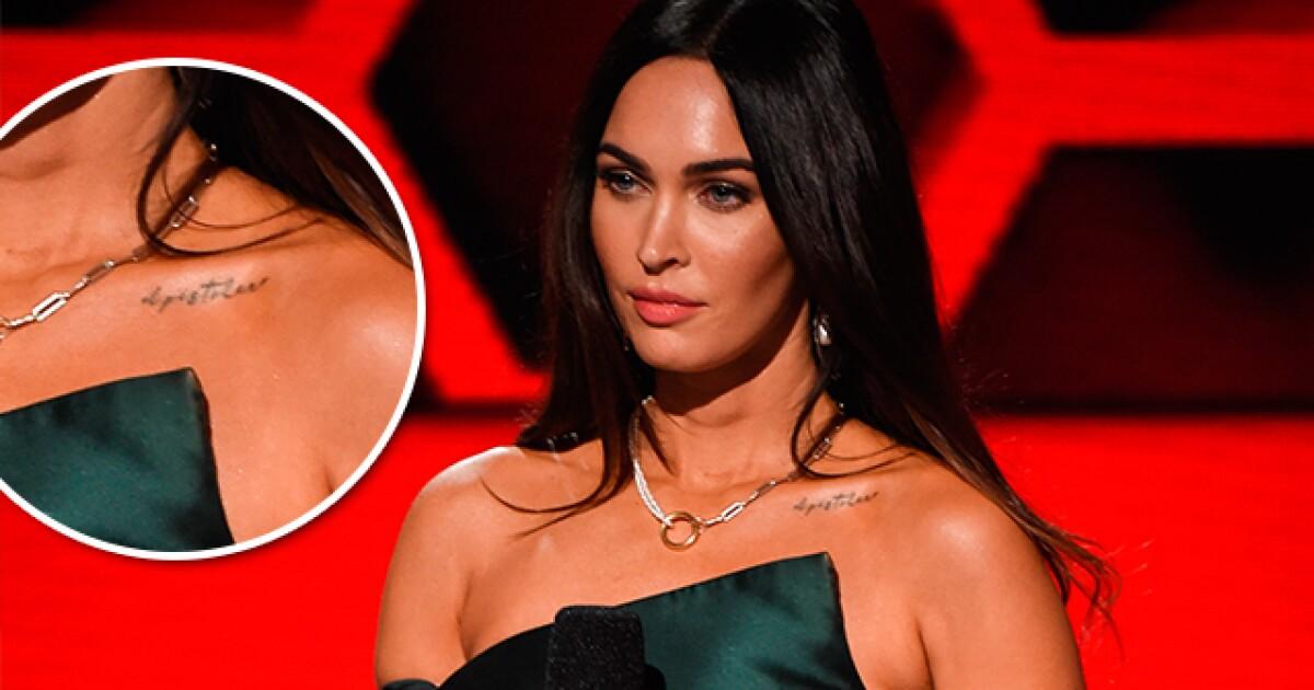 Megan Fox se hace un tatuaje en honor a su nuevo novio, Machine Gun Kelly