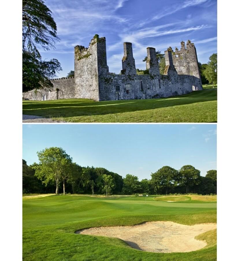 El resort tiene campo de golf y un castillo antigüo.