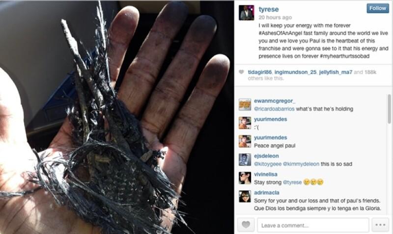 Tyrese Gibson compartió esta foto en Instagram desde el lugar del accidente.