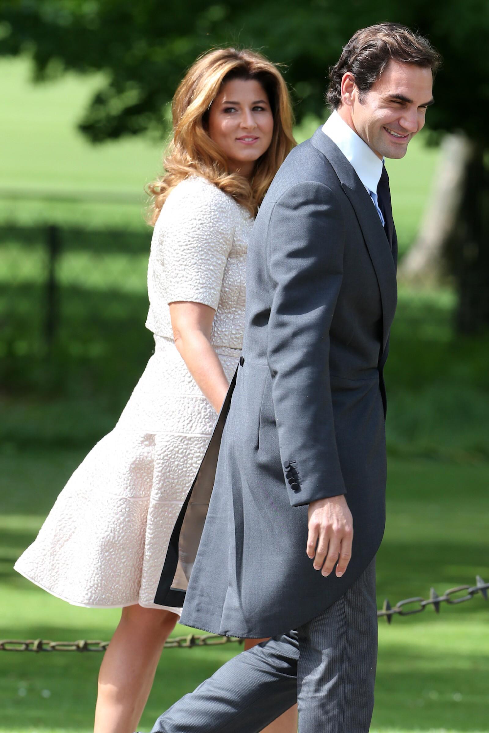 Roger Federer y su esposa