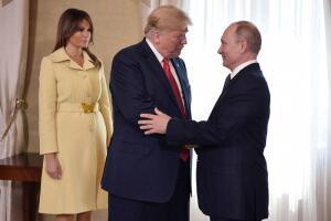 Melania con Vladimir Putin