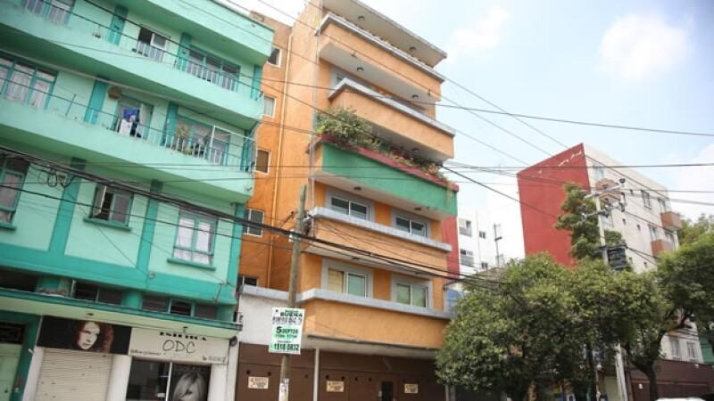 El departamento de la colonia Narvarte en donde ocurrieron los homicidios de cinco personas