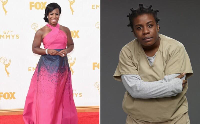 Uzo Aduba, muy guapa en la red carpet de los Emmy.