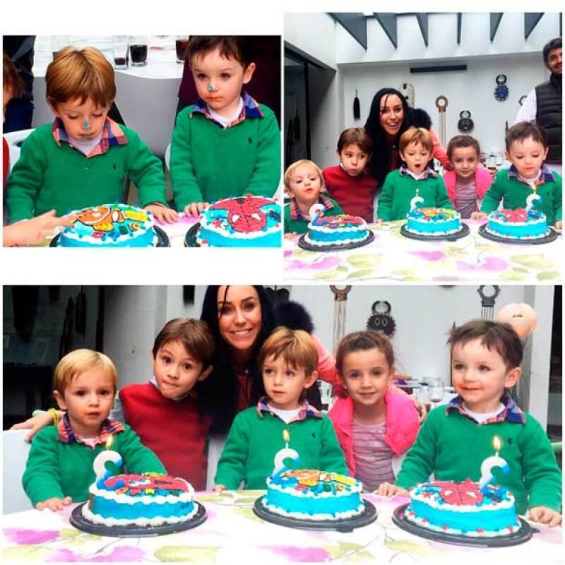 Muy felices pasaron el domingo soplándole a sus velitas y mordiendo su pastel.
