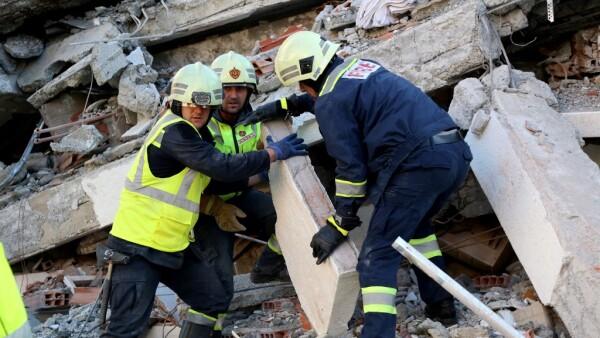 Trabajos de rescate.