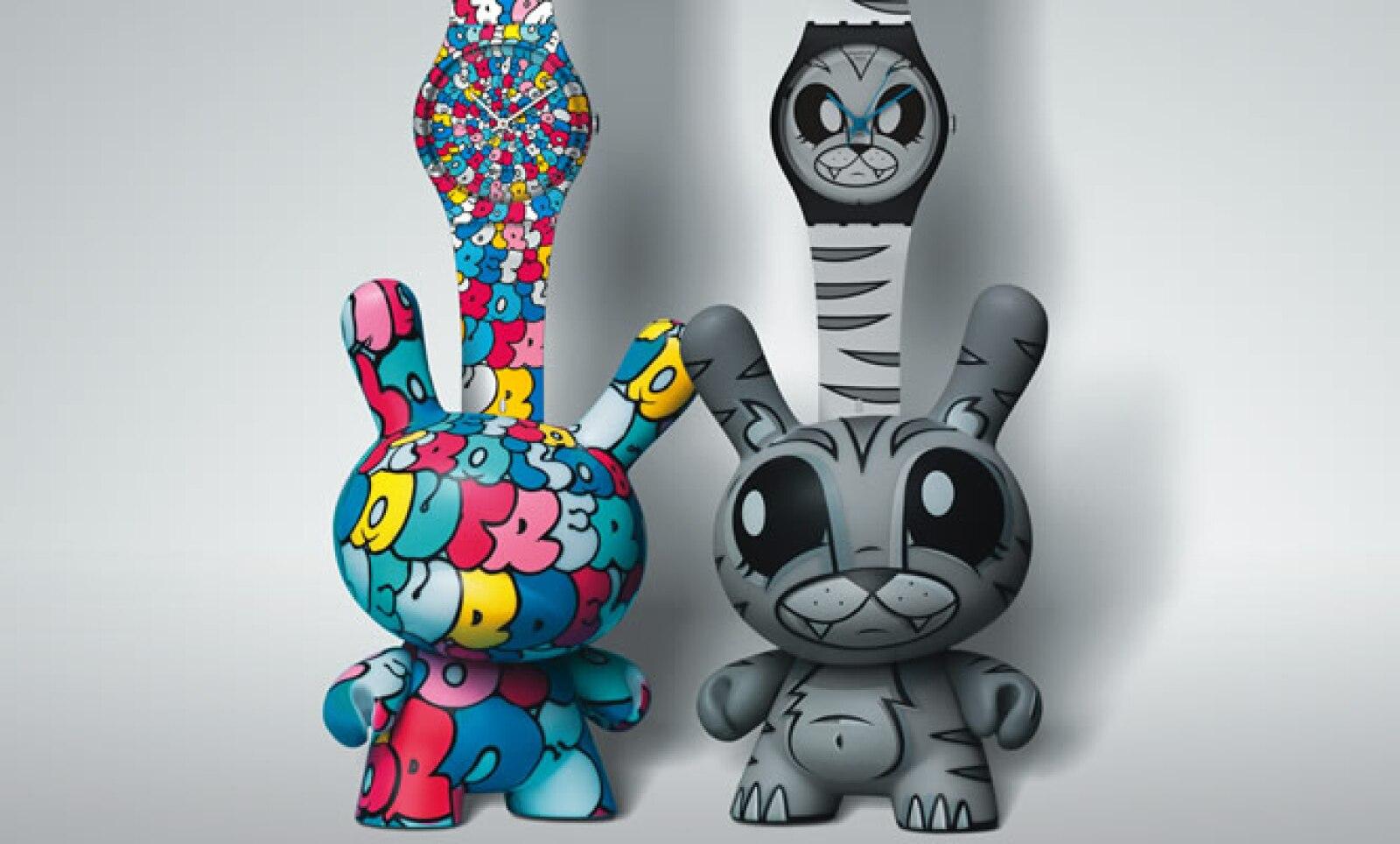 El paquete está disponible con un reloj y un juguete de vinilo, mejor conocido como Dunny, uno de los modelos más característicos de Kid Robot, similar a un conejo.
